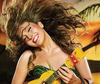 Thalía en campaña comercial mientras