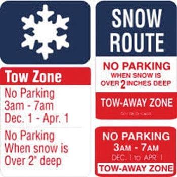 En marcha reglas de estacionamiento de invierno